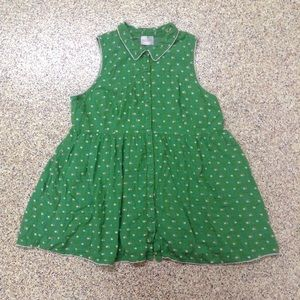 ModCloth green flowered shirt dress plus size 3X